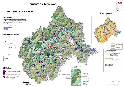 vallée de la tarentaise carte Tarentaise   Observatoire des Territoires de la Savoie